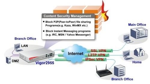 DrayTek 2955 Content Security Management Application)